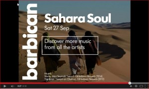 Sahara Soul screenshot Barbican Video